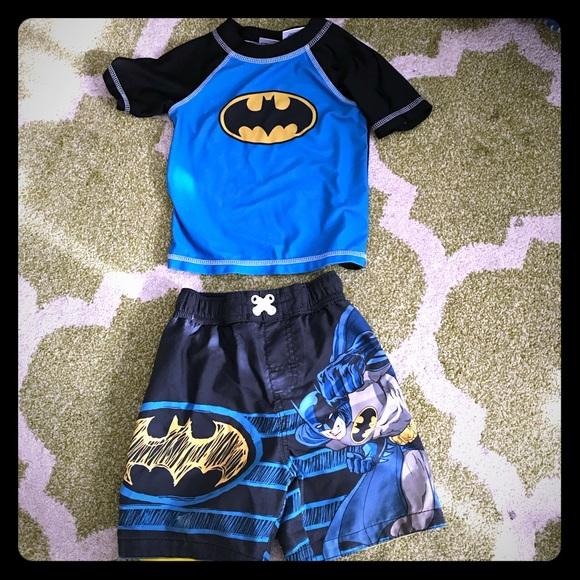 9d589e97f4 Swim | Toddler Batman Dc Set With Rash Guard Top | Poshmark